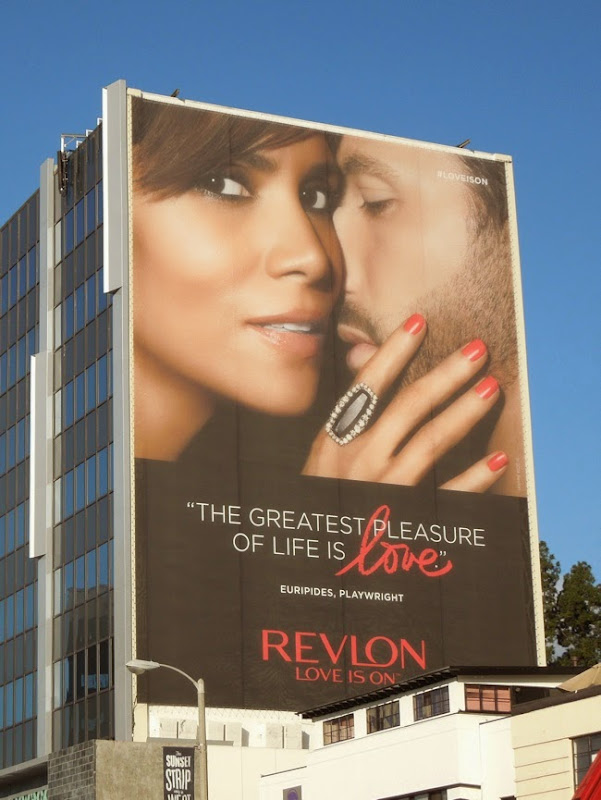 Giant Halle Berry Revlon Love is on billboard