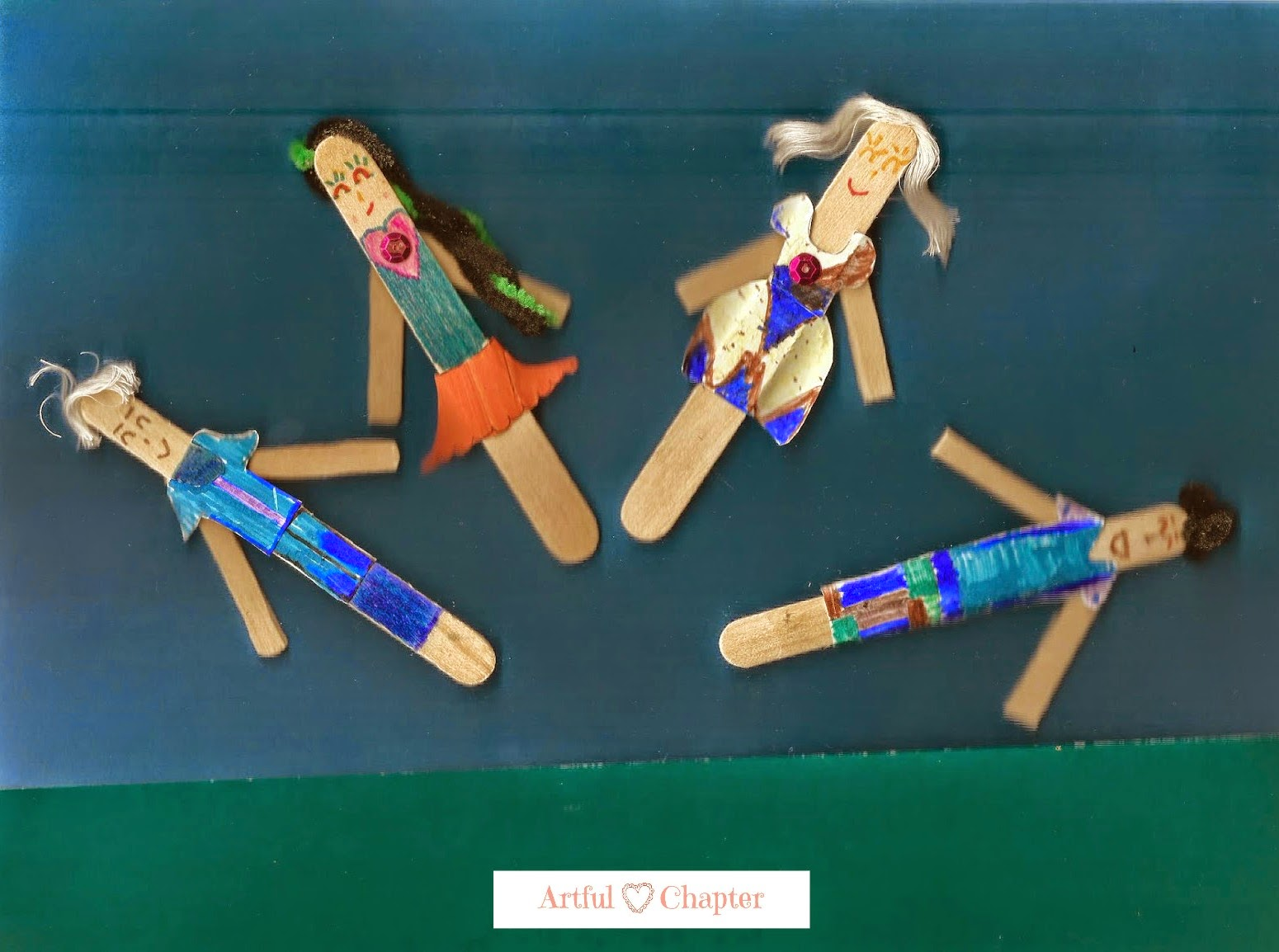 The Popsicle Stick Family Artful Chapter