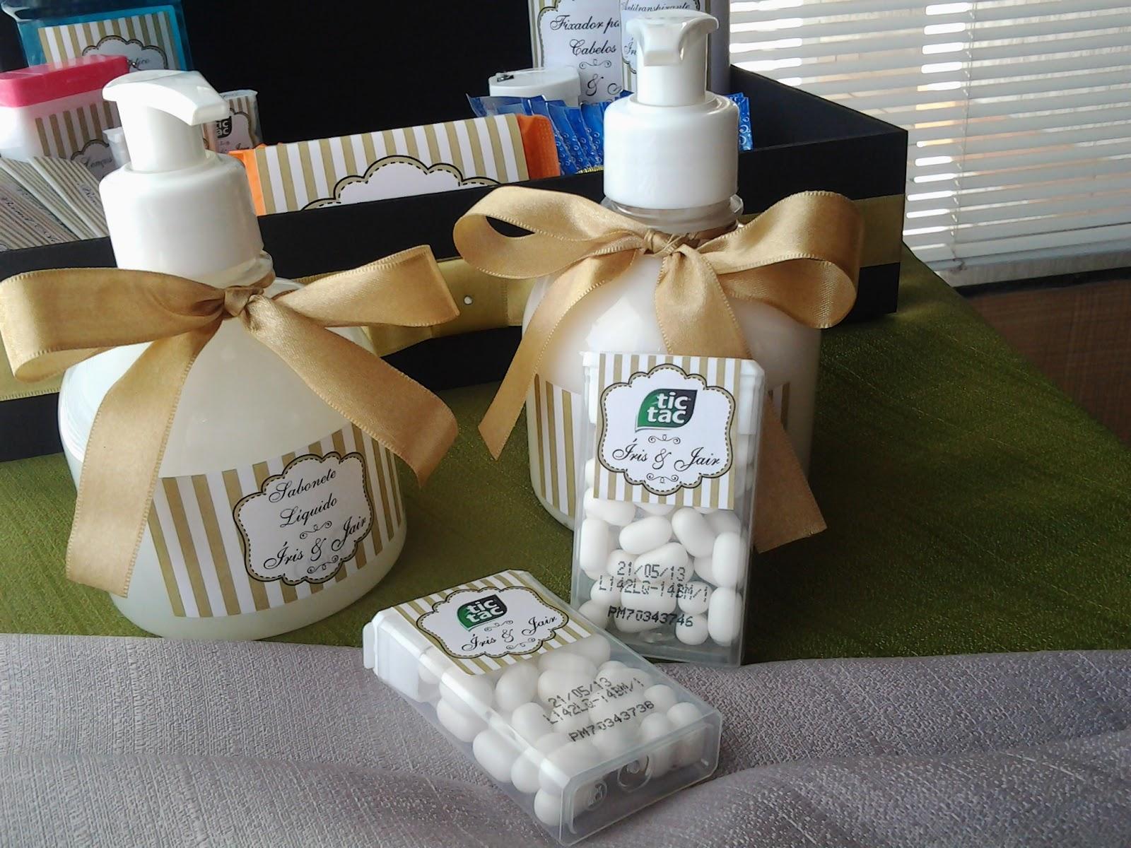 Imagens de #6D442B  Comemorações Personalizadas: Kit de Banheiro para festa de casamento 1600x1200 px 2806 Box Banheiro Marilia