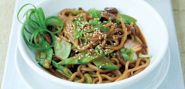 ... Recipe: Sesame Lime Soba Noodles with Snow Peas and Shiitake Mushrooms
