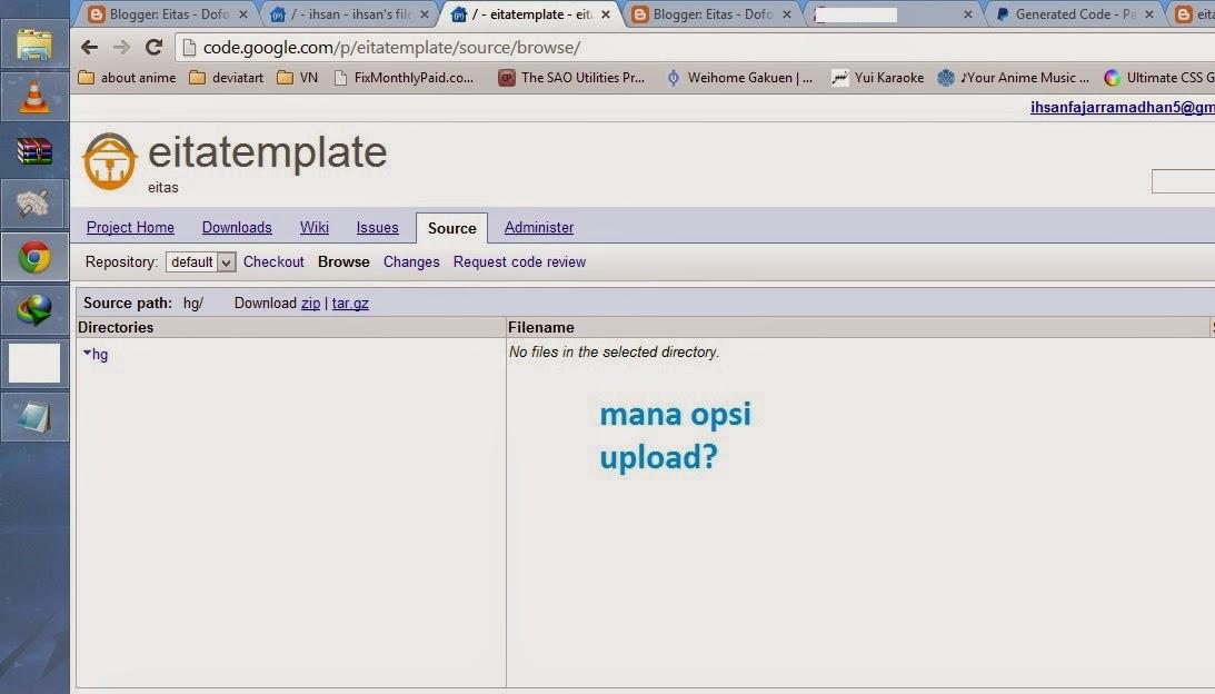 cara upload file ke google code menggunakan browser 0