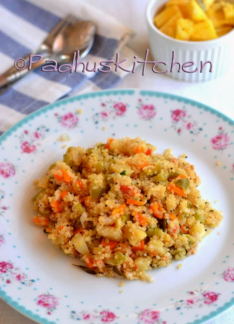 Quinoa upma recipe how to make quinoa vegetable upma for Quinoa recipes indian