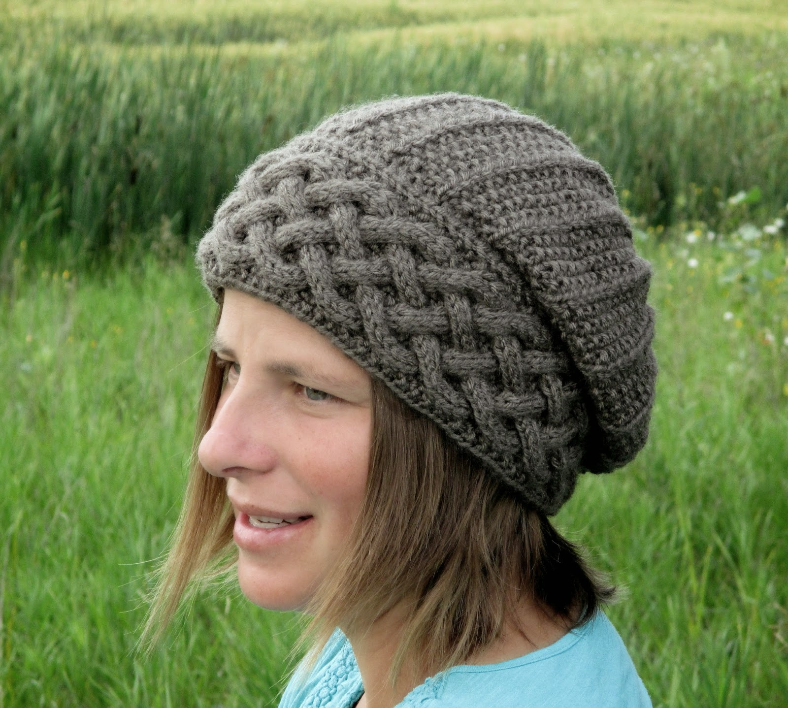 Knot Enuf Knitting: Song of Peace Slouch Hat Knitting Pattern