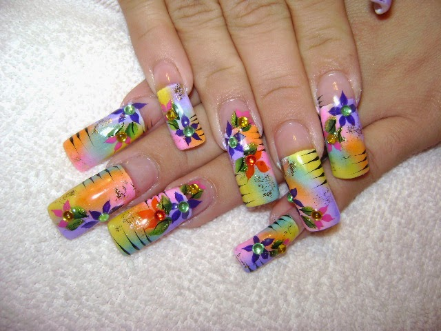 Nail Salon Designs Nail Salon Art Designs Colorful