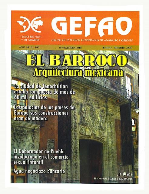 EL BARROCO ARQUITECTURA MEXICANA REVISTA GEFAO