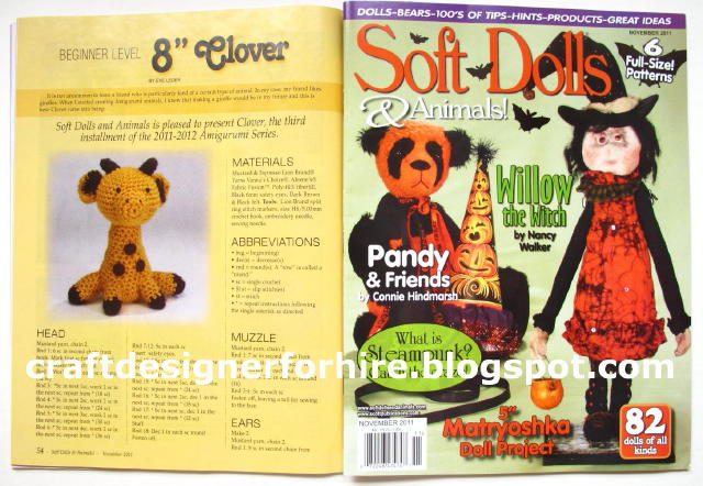 Amigurumi Craft Magazine : Crochet Amigurumi Giraffe Pattern http://eveleder.com