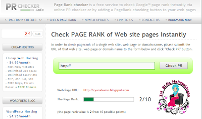 PAGERANK BLOG HEIRIZALIEYANA DAH NAIK ,cara check pagerank blog.apa itu page rank,pentingnya pagerank untuk blog