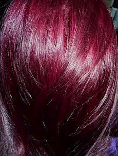 red purple hair