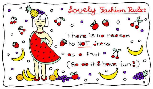 fruits in fashion, fun, fashion, funny fashion rule