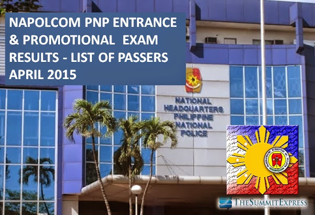 NAPOLCOM Exam Results April 2015 List of Passers release online