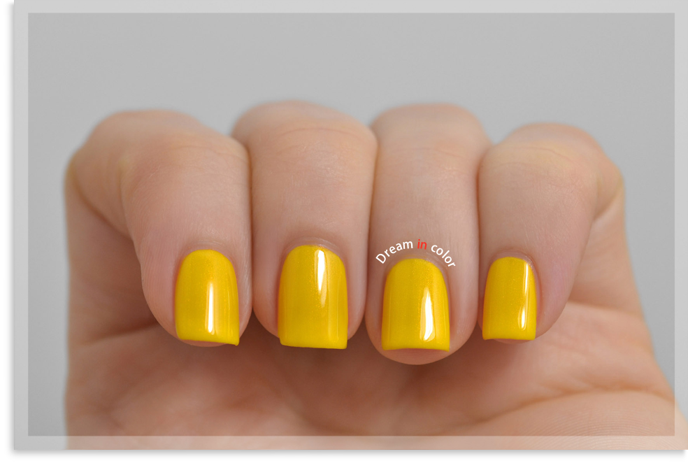 China Glaze Sun's up, top down