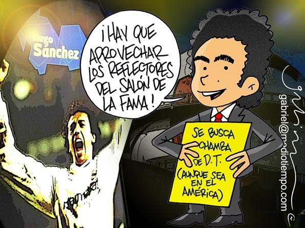 Hugo Sánchez busca chamba