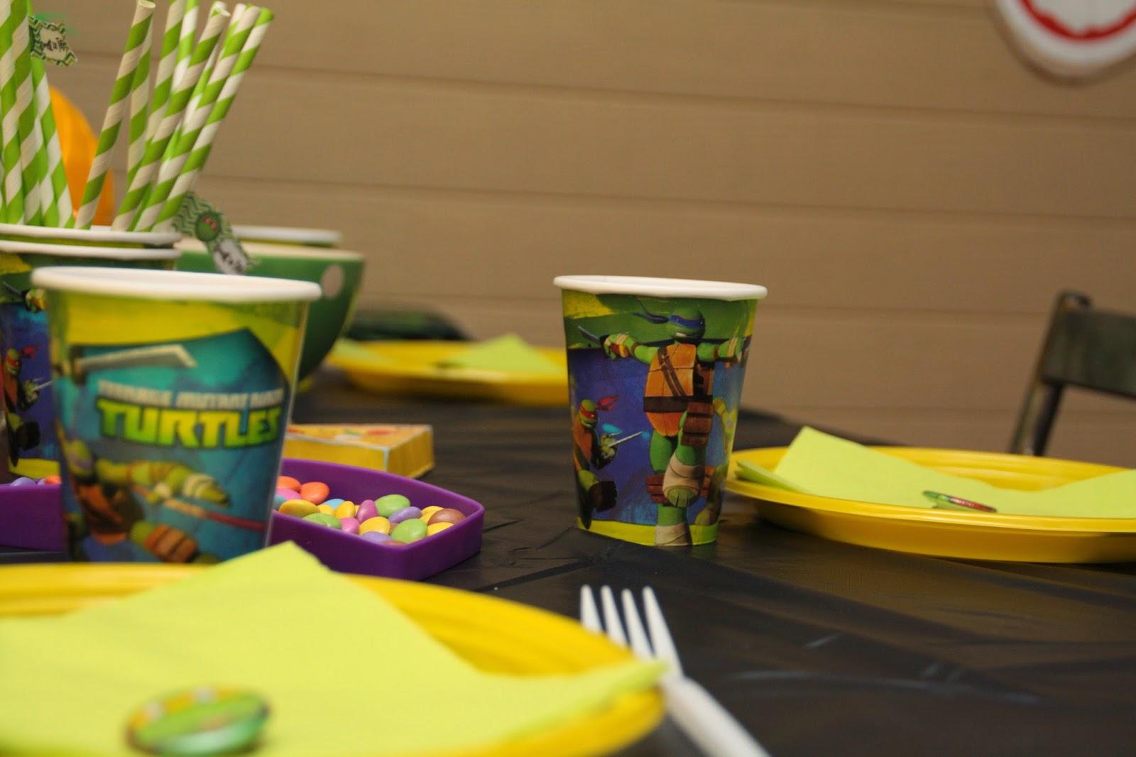 table goûter anniversaire tortue ninja