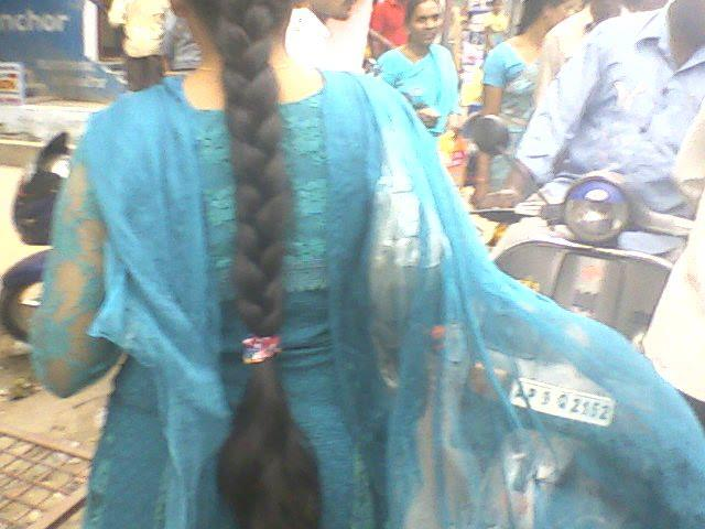 Indian long hair girl
