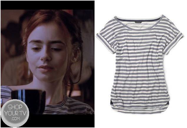The Mortal Instruments: City of Bones Clary's Striped T Shirt