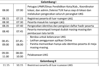 Jadwal UKG Online November 2015