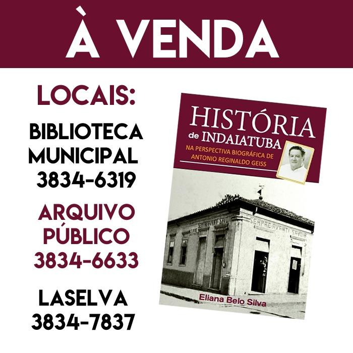 LIVRO SOBRE HISTÓRIA DE INDAIATUBA
