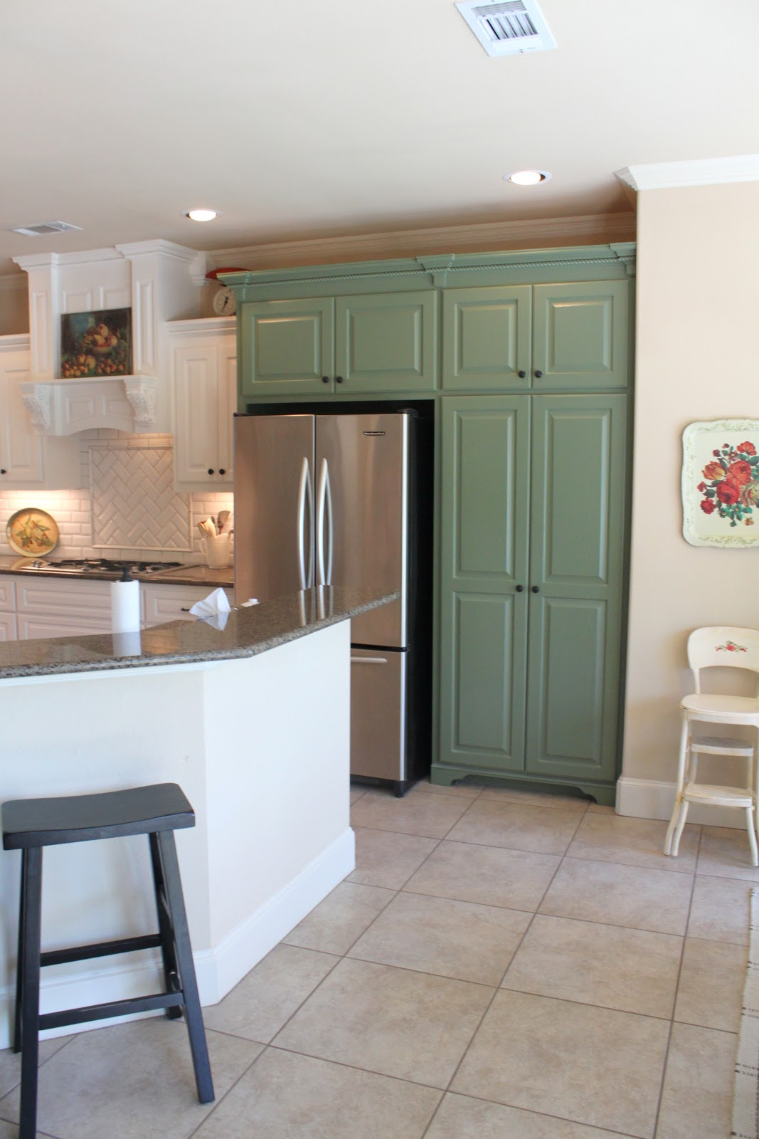 Painted Kitchen Cabinets Two Colors Color, but its just paint