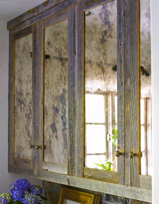 Here are ways others have used the antique mirror look enjoy