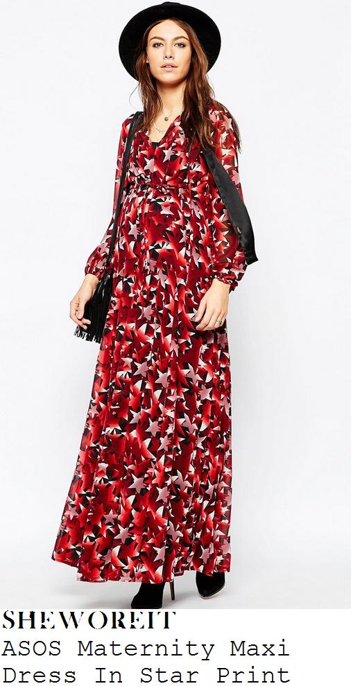 sophie-ellis-bextor-multi-red-star-print-maxi-dress-red-awards