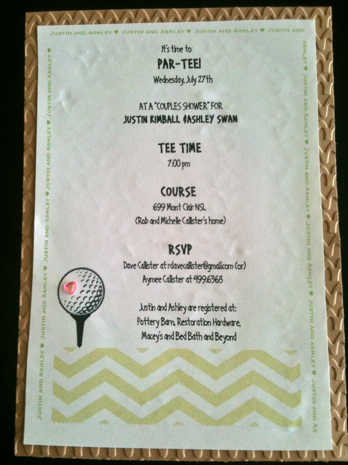 Just for Fun: Golf themed-couples bridal shower