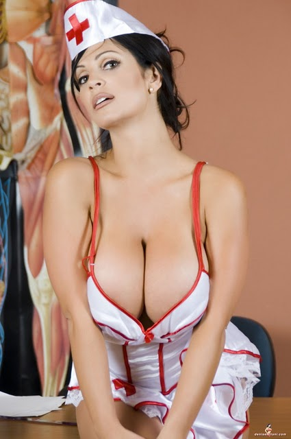 Beautiful Denise Milani Nurse Pictures