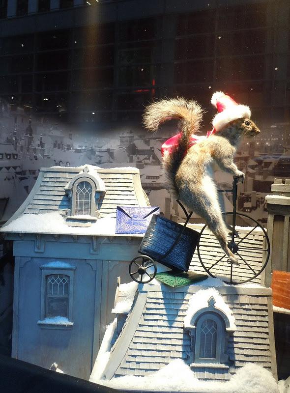 Bergdorf Goodman festive squirrel