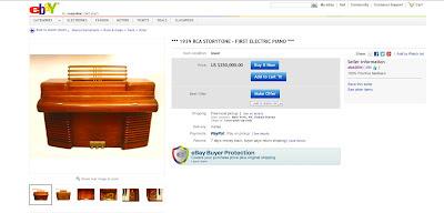 Found on Ebay: 1939 RCA Storytone Electric Piano