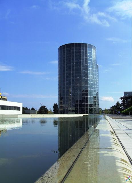World largest car parking in Germany buildings infrastructure strange architecture Garage land