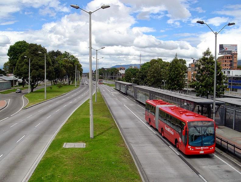 TransMilenio buses in Bogotá, Colombia