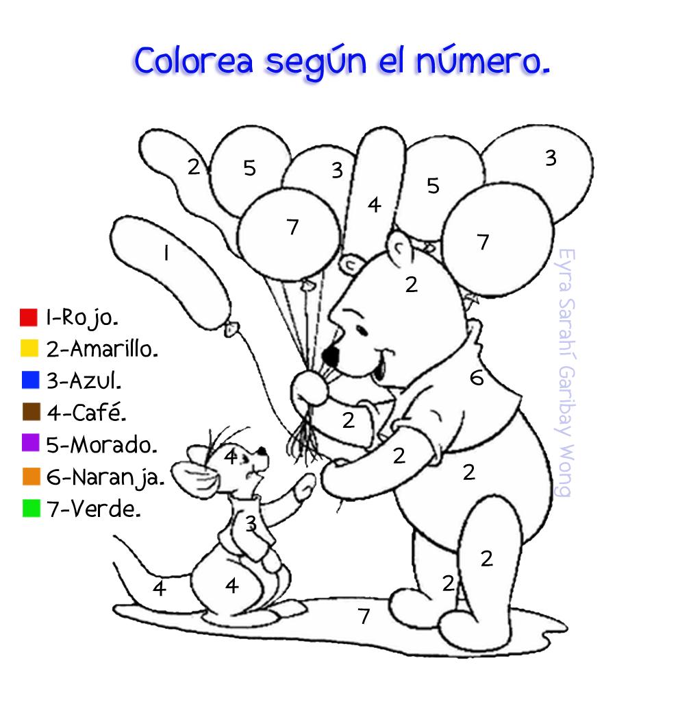 Dibujos Con Numeros Para Colorear Preescolares