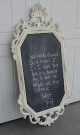 Elegant Chalkboard (SOLD)