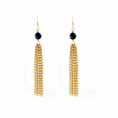 Tassel earrings, gold earrings, elisha francis, elisha francis london, elisha francis jewellery, women's jewelry