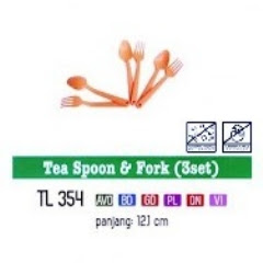 Info & Harga Twin Tulip Tulipware 2014 : Tea Spoon & Fork - Sendok Teh & Garpu