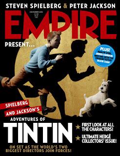 Tintim na capa da revista Empire