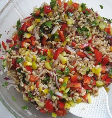barley and pepper salad