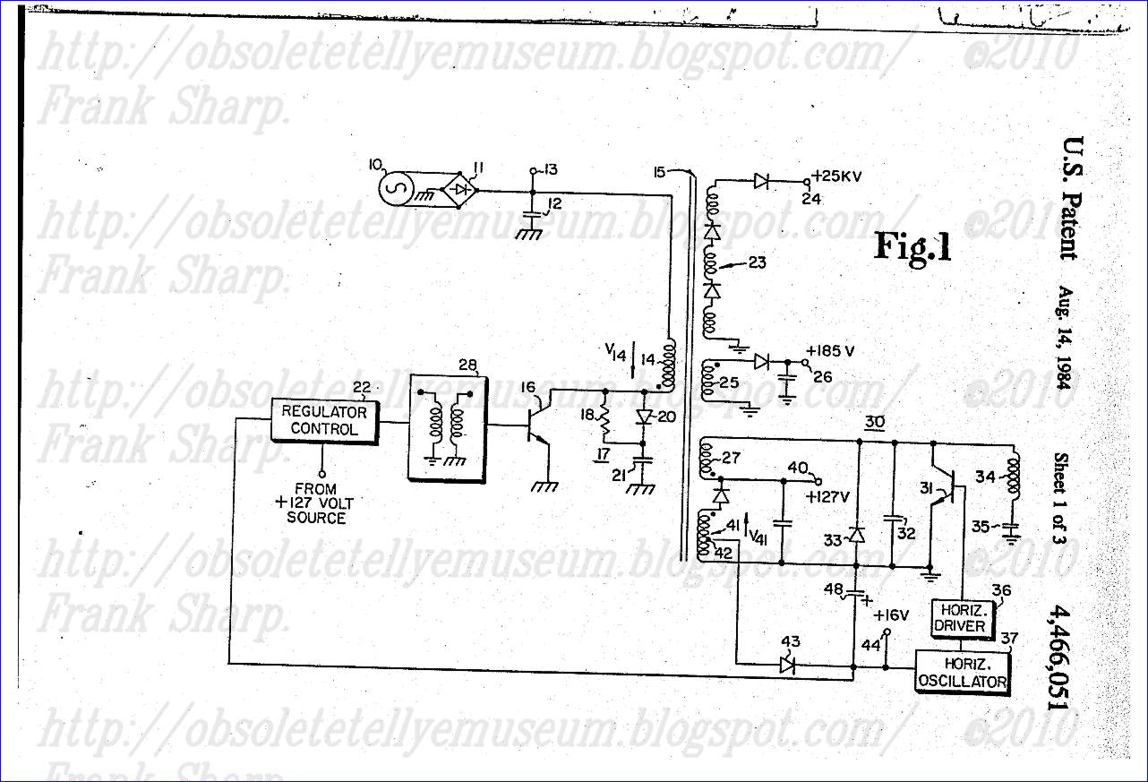 Obsolete Technology Tellye Salora 17l61 Chassis L Internal View 12to 16vdc Regulated Power Supply Circuit Diagram 1 An Ac Mains 10 Is Applied To A Full Wave Bridge Rectifier 11 And Filter Capacitor 12 Develop Source Of Unregulated Voltage At Terminal