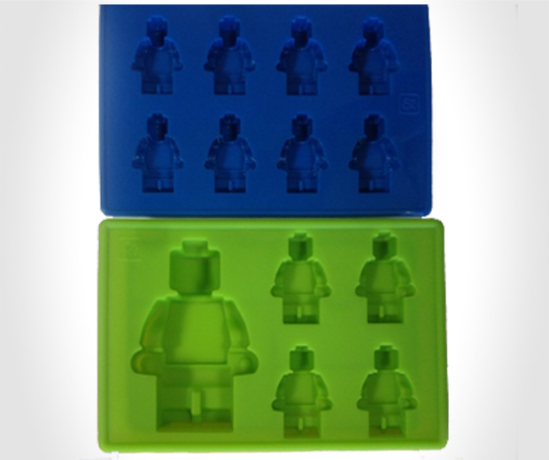 LEGO Brick and Figure Ice Molds