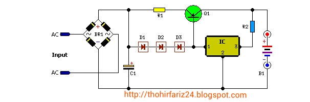 Hobi Oprek Elektronika  Rangkaian Pengisi Battery 12 Volt