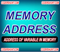 memory address in c