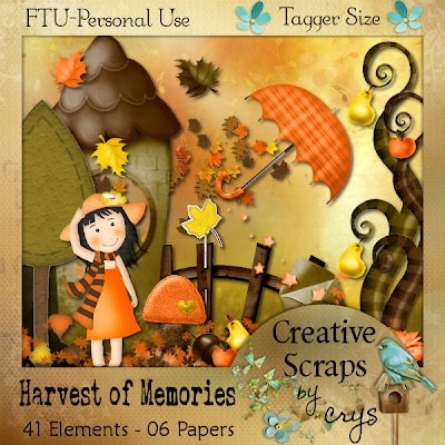 "Scrapbook Freebie ""Harvest of Memories"" by sinfullycreativescraps"