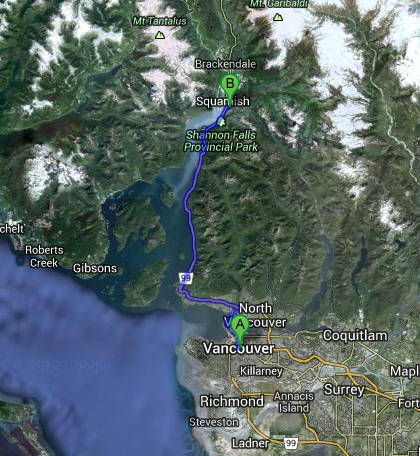 vancouver to squamish