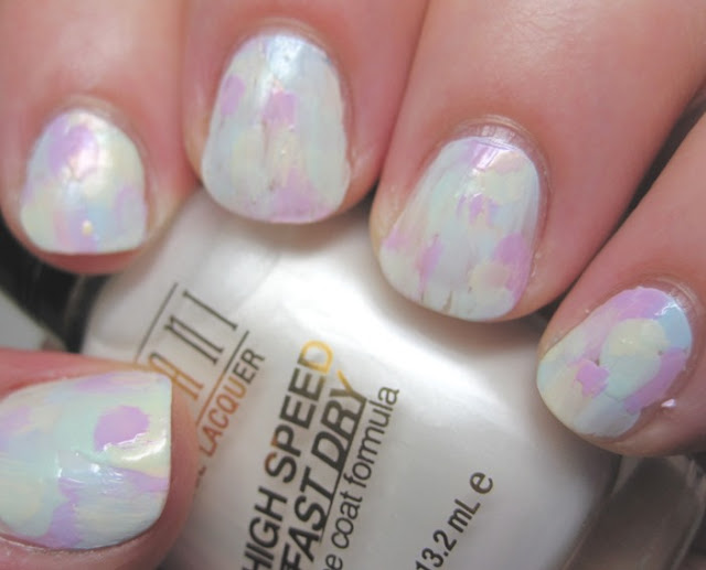 Abstract brushstroke with L'Oreal pastels
