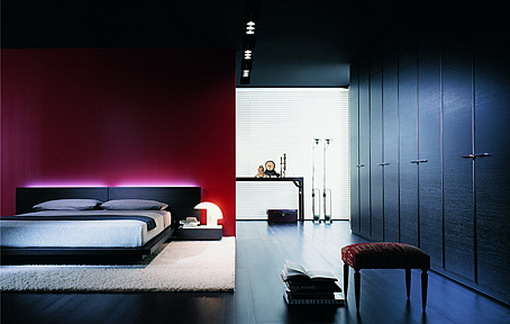Home interior design luxuirous modern bedroom lighting Bedroom design lighting
