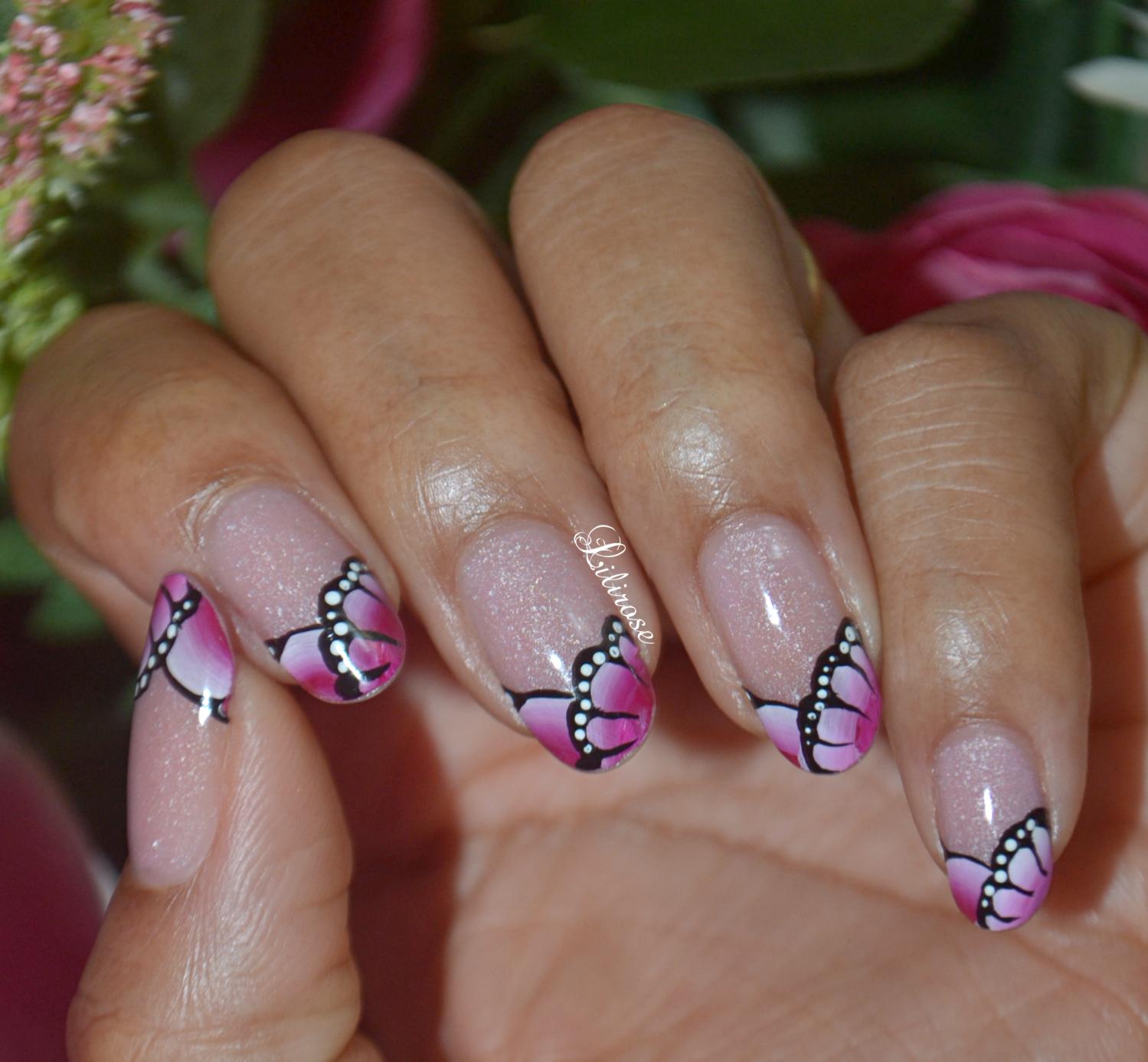 Nail Art French Rose