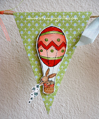 Easter Bunny in Hot Air Balloon - Everybunny Stamp Set