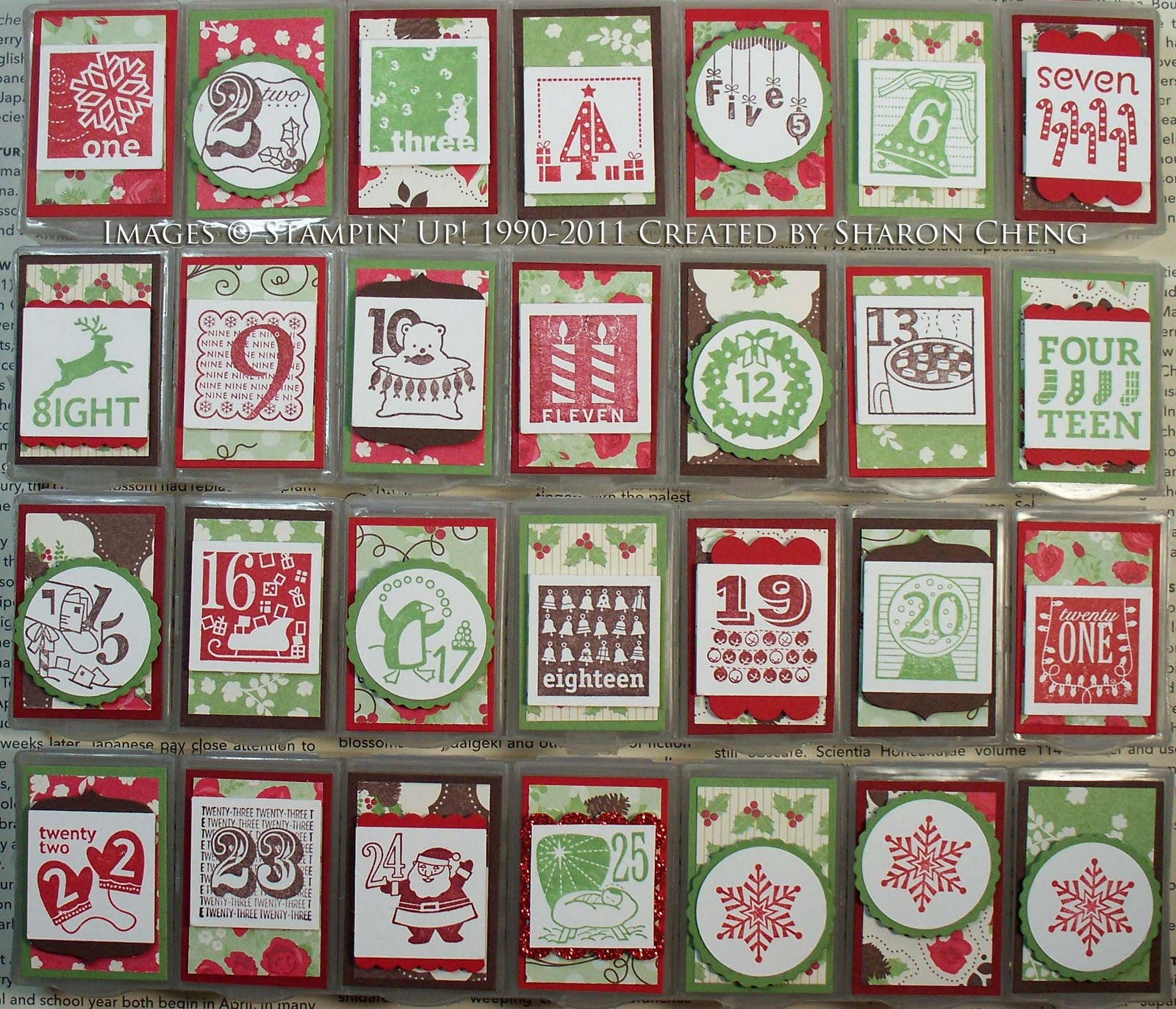 Sharing Creativity And Company 25 Counting Advent Calendar