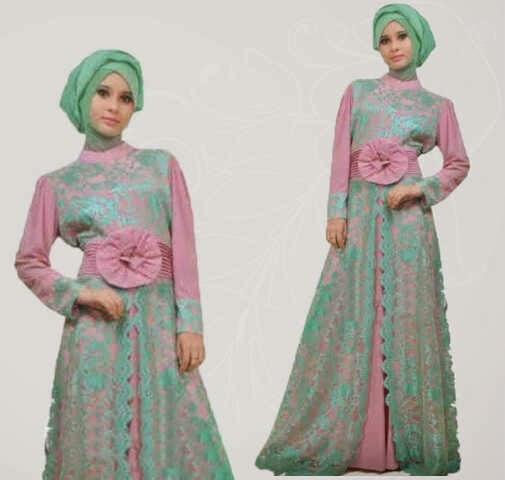 Model Desain Baju Muslim Brokat Terbaru