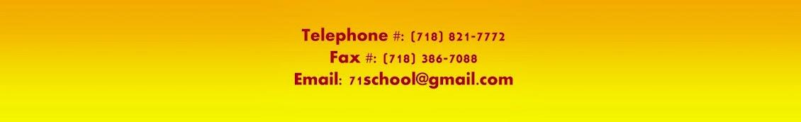 Contacting PS 71Q