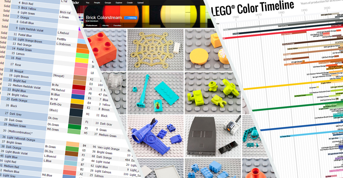 Lego Colour Chart Reference New Elementary A Lego Blog Of Parts